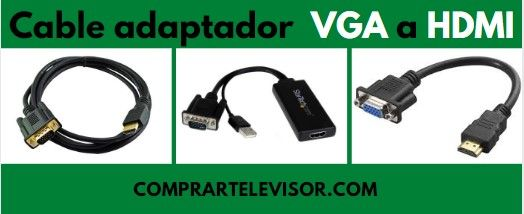 Cable adaptador VGA a HDMI