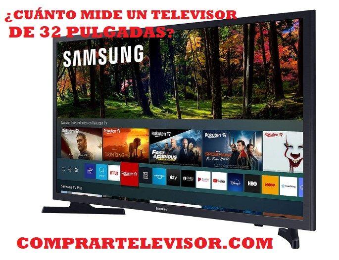 ¿Cuánto mide un televisor de 32 pulgadas y modelos más vendidos?