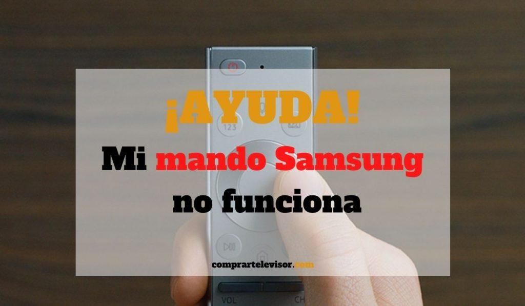 Mi mando Samsung no funciona