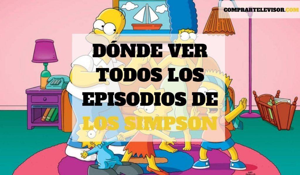 Dónde ver todos los episodios de Los Simpson