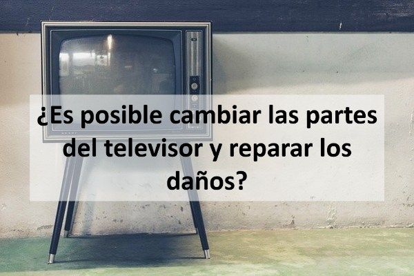 ¿Es posible cambiar las partes del televisor y reparar los daños?